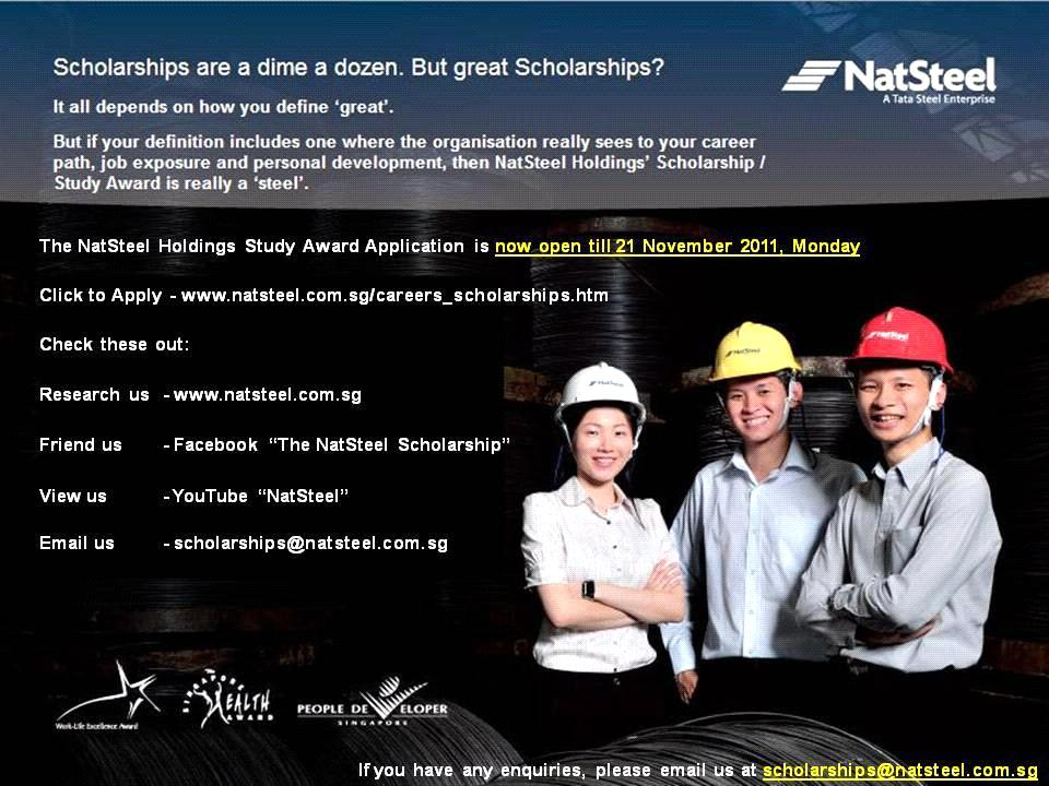 NatSteel Study Award 2011